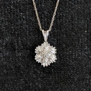 Jewelry - 14k white gold and diamond necklace